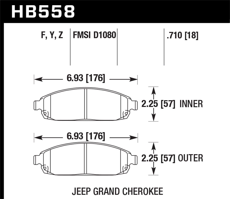 Hawk Performance HB558F.710 HPS Performance Ceramic Brake Pad