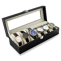 High-End orologio display box scatola porta orologi per 6orologi 32x 11x 8cm