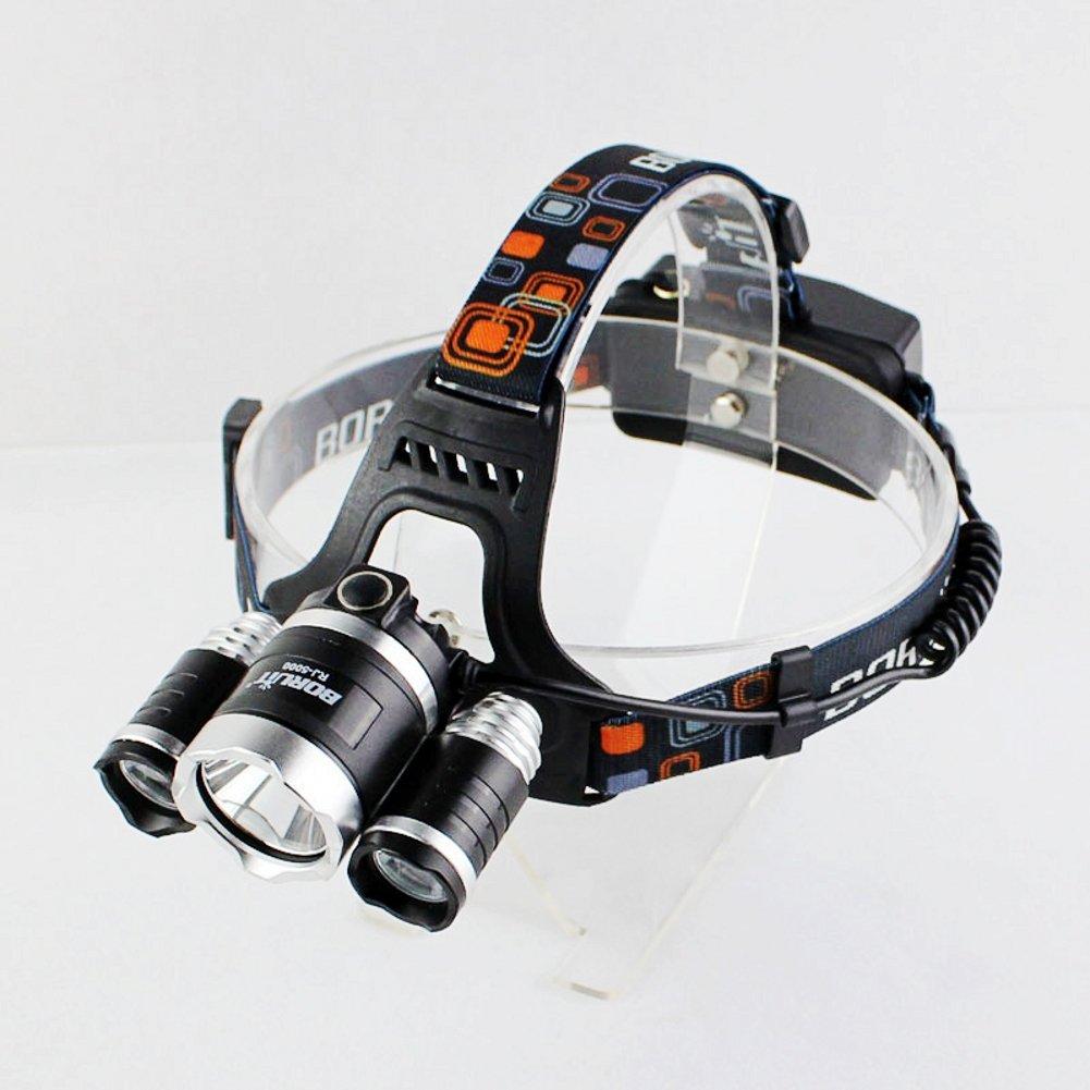 Boruit RJ5000 6500LM Cree XM-L 3 L2 LED Headlamp Rechargeable Waterproof Head light 30W High Power 500M Range