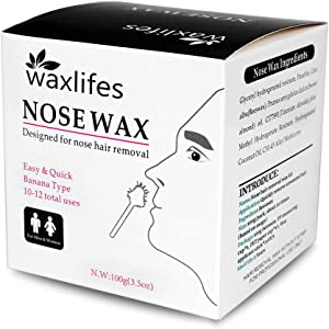 OAKEER Men Nose Wax Hair Removal Nose Wax Kit Wax Beans Home Nose Hair Removal New,40 Accessories