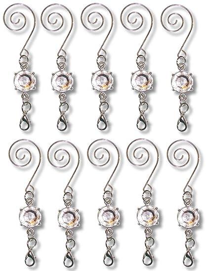 Amazon.com: Christmas Ornament Hooks - Metal Wire Hanging Hook Set ...