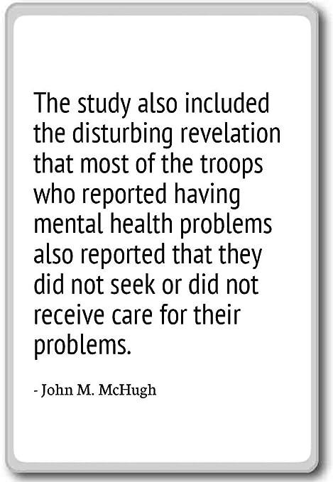 The Study Also Included The Disturbing Revel John M Mchugh