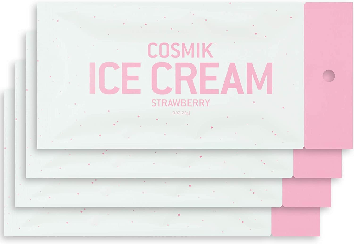 COSMIK Freeze Dried Ice Cream 4 Pack Strawberry