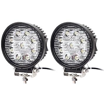 2 x LED Faro 27 W Faro de trabajo para luz de trabajo SUV Offroad IP67