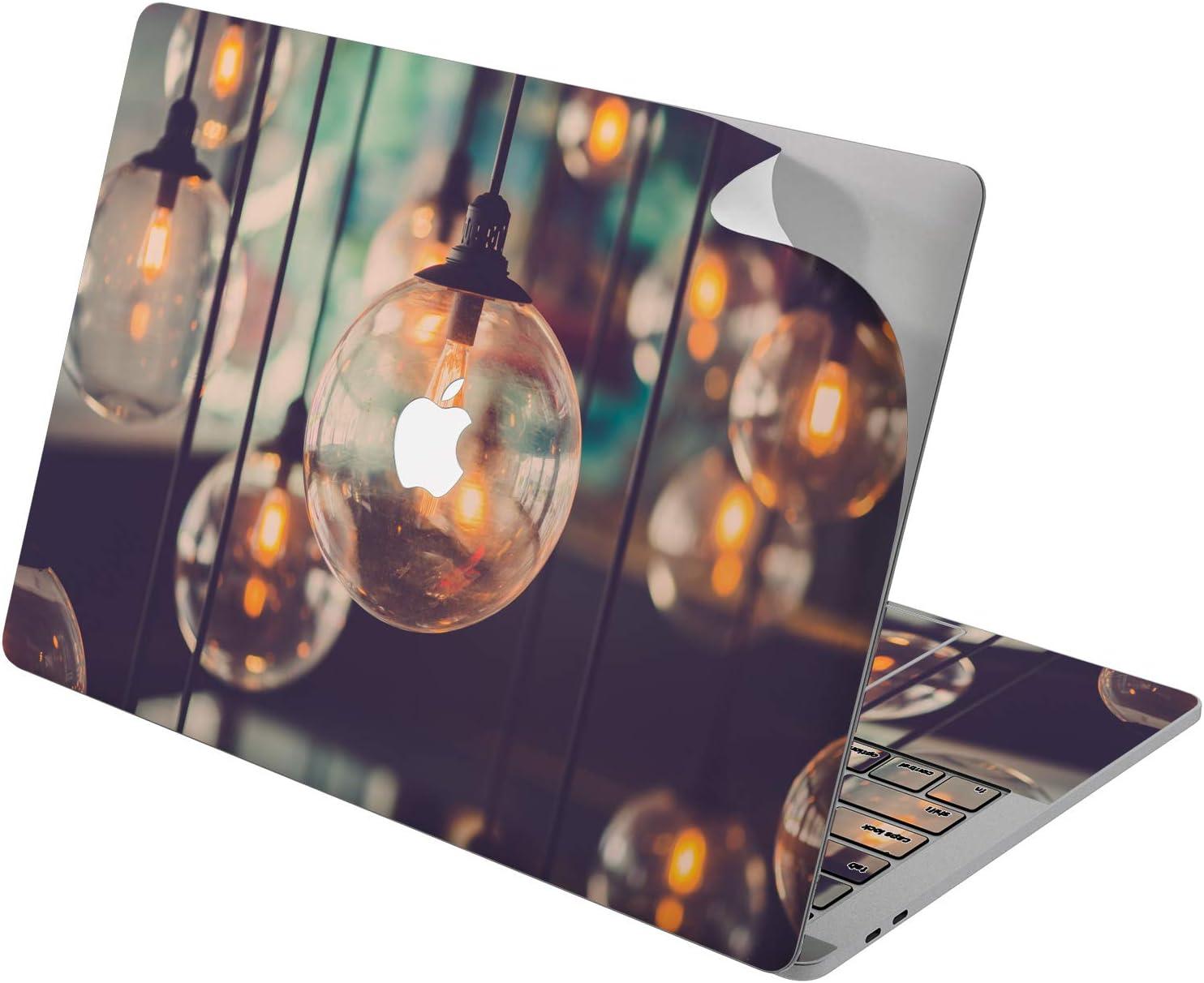 "Cavka Vinyl Decal Skin for Apple MacBook Pro 13"" 2019 15"" 2018 Air 13"" 2020 Retina 2015 Mac 11"" Mac 12"" Protective Pattern Light Design Print New Cover Unique Laptop Vintage Sticker Bulbs Lamp Gentle"