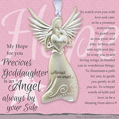 Beautiful Angel Ornament – Gift for Goddaughter for Baptism, Confirmation with Heartwarming Sentiment (Goddaughter)
