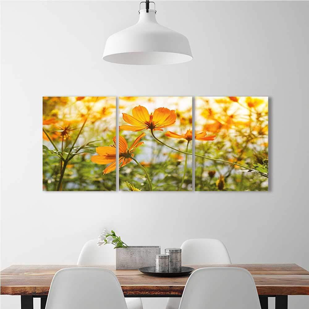 Amazon.com: aolankaili 3 Panel Wall Art Set Frameless Foggy Scenery ...