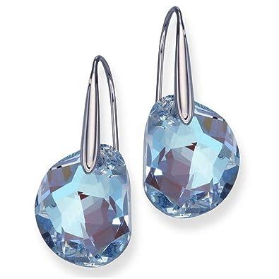 6a2d05869 Swarovski Light Sapphire Crystal JEWELRY Pierced Earrings GALET Rhodium  #5187532: Amazon.co.uk: Jewellery