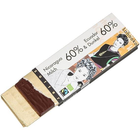 zotter Labooko Nicaragua 60% leche y Ecuador 60% chocolate oscuro 70 g