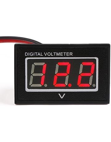 Mit rotem LED-Display mit 4 Ziffern 0-20 V DC Digital Panel-Meter Voltmeter