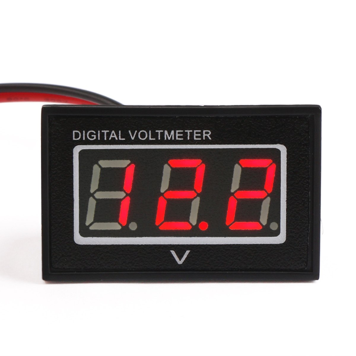 Drok 040 Dc25 30v Led Waterproof Digital Voltmeter 12v 24v Wiring Volt Gauge Voltage Meter Panel Battery Monitor Tester With 2 Wires Tools Home