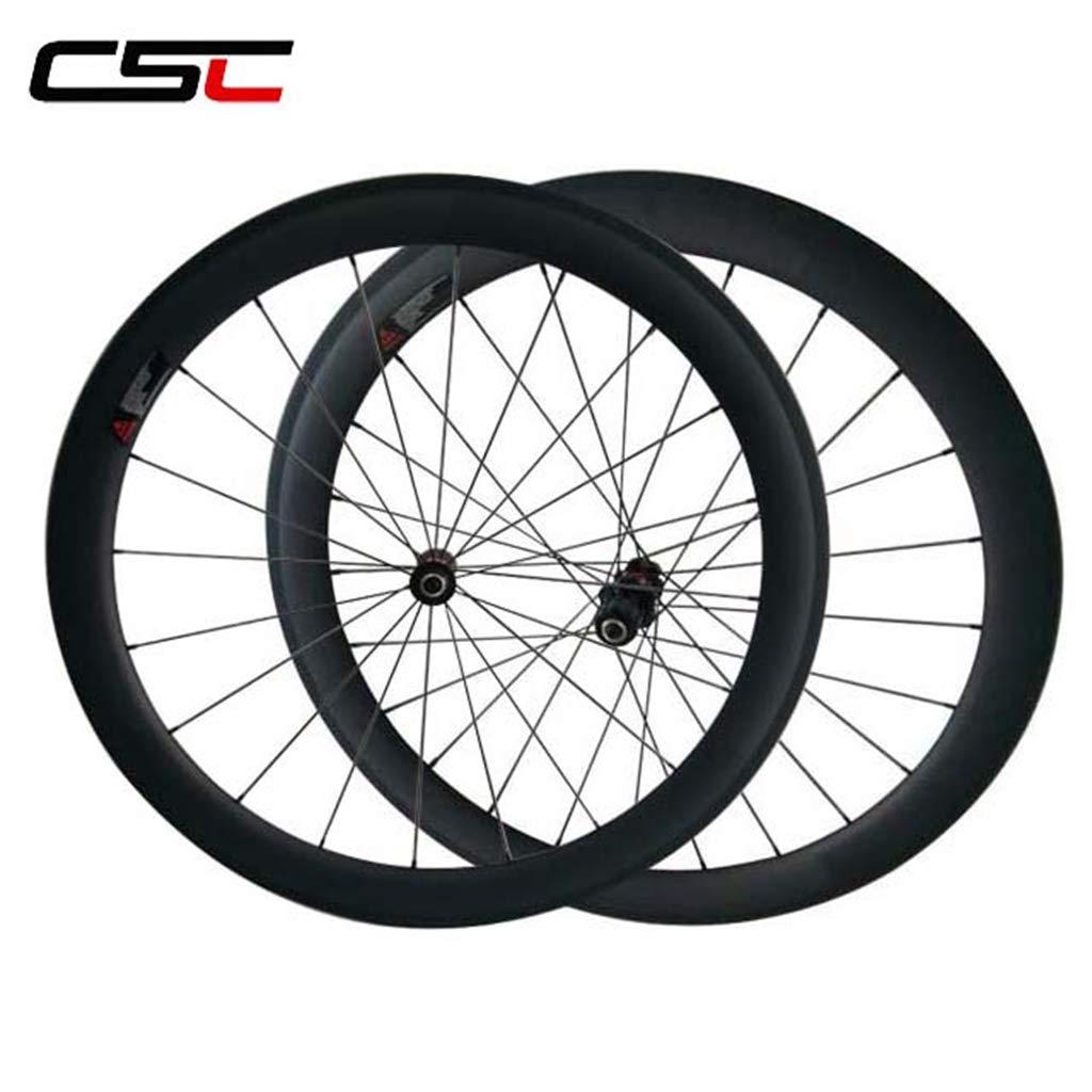 CSCbike - Juego de Ruedas para Bicicleta de Carretera (Carbono, 20 ...