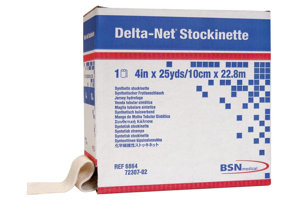 BSN Delta-Net Orthopedic Synthetic Stockinette, 4 inch x 25 yards, case of 2 rolls