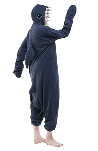 Amazon.com: Newcosplay Adult Onesie Shark Costume Halloween Pajamas Cosplay Costume: Clothing