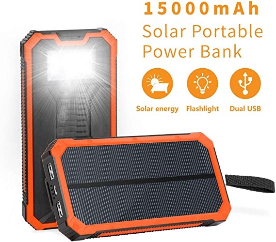 Amazon.com: Cargador solar de 15000 mAh con mechero de ...