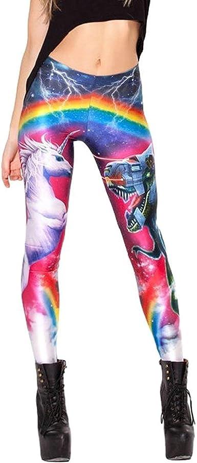 Femme Dames Hommes Fille Leggings Licorne 3D Galaxie Chic