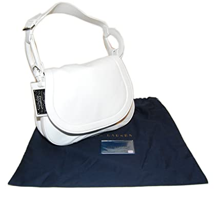 4c8e2bb92c Polo Ralph Lauren Collection Womens Leather Proprietor Handbag Purse Hobo  Bag Italy White