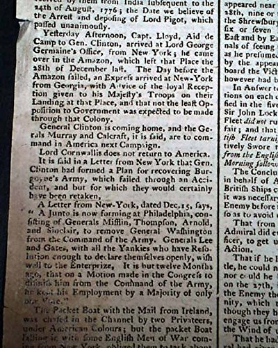 general-george-washington-plan-to-oust-him-revolutionary-war-1779-uk-newspaper