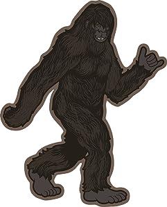 Bigfoot Sticker Hang Loose| Die-Cut Label | Folklore Creature Legend | Apply to Mug Phone Laptop Water Bottle Decal Cooler Bumper | I Believe Hunting Searching Sasquatch Yeti Shirt Hat Sock