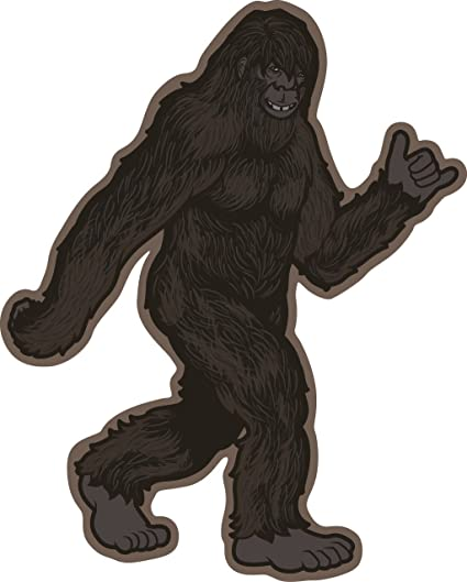 Bigfoot Sticker ~ Hang Loose Dude- Vinyl, Die-Cut, 4 inch, Decal & Gift   Perfect for Water Bottle, Laptop, Cooler and Bumper, All-Weather  Waterproof,
