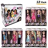 Deluxe Case of 12 Fashion Beauty Dolls with Dresses in Individual Display Boxes for Girls Bulk Party Favors