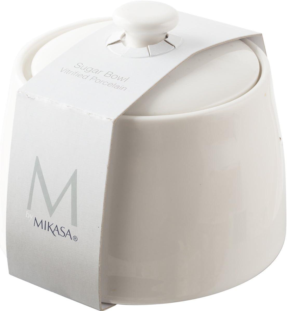 blanc 4 x 3.5 10 x 9 cm Mikasa Bol /à sucre en porcelaine