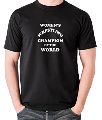 0a5fabf39b3a Andy Kaufman Inspired t Shirt - Women's Wrestling Champion of The World  Black