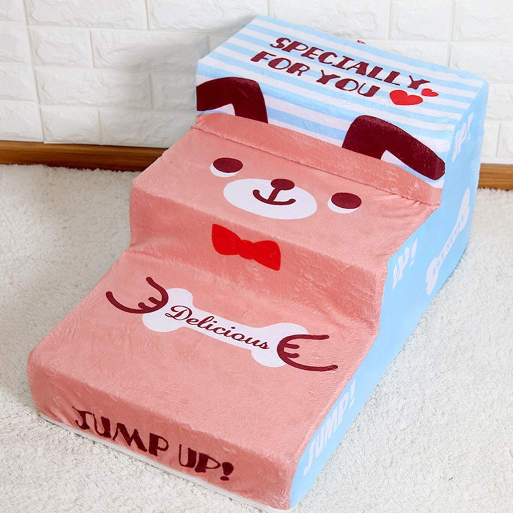 JXXDDQ Dog Stairs Pet Stairs Sponge Stairs Small Dogs Sofa Bedside Stairs Detachable Ladder