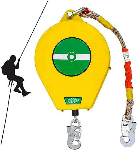 ZHDLJ Anticaídas Retráctil, Dispositivo Anticaída Retractil para Construcción y Minería, Arnes de Seguridad para Sitios de Escalada en Roca, 3 Metros ...