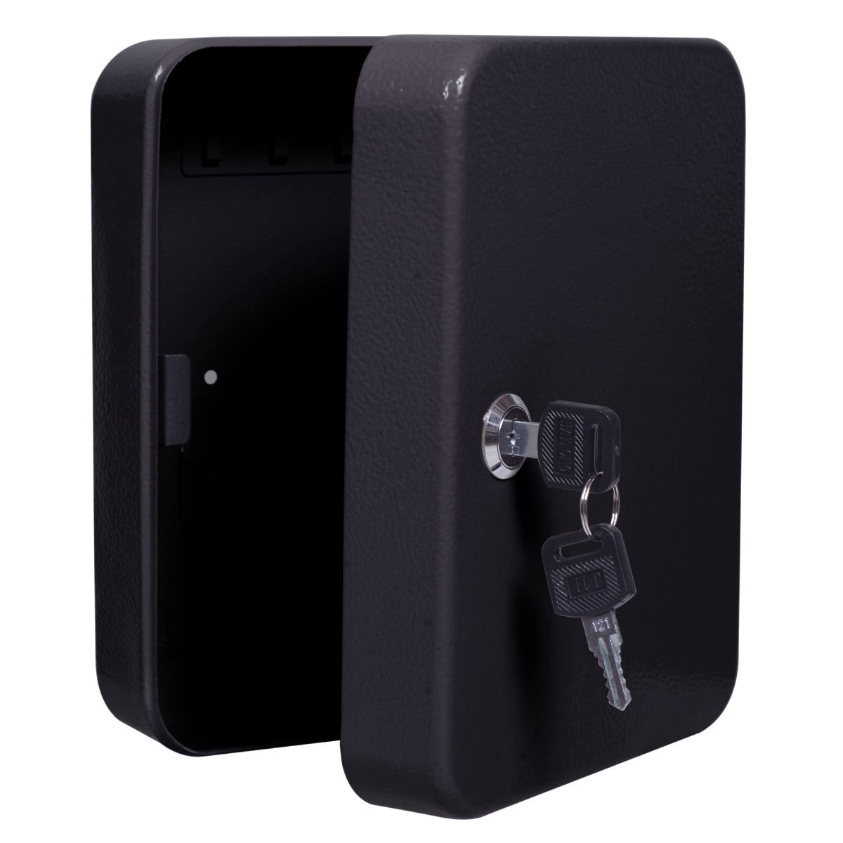 20 Hook Key Box with Tag Metal Safe Home Car Lock Storage Case Cabinet Wall Mount Black