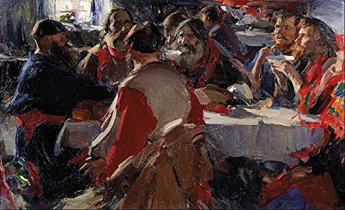 Cutler Miles The Tea Party by Abram Efimovich Arkhipov Hand Painted Oil (Tea Party Canvas Reproduction)