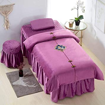 190x80cm Lightweight Beauty Salon Massage Table Skirt Bed Cover w//Face Hole