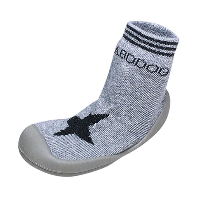 US Baby Girl Boy Anti-slip Socks Cartoon Newborn Slipper Shoes Boots 0-5 Years