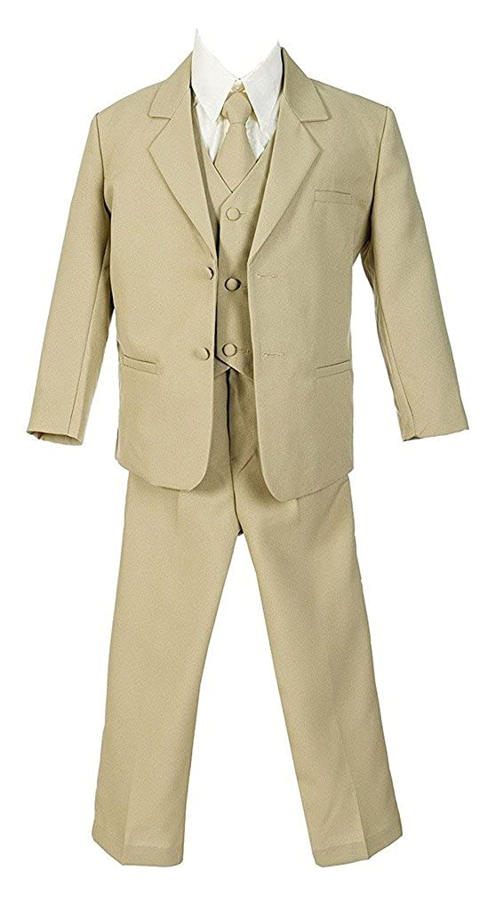 iGirlDress Boys Formal Dress Suit with Shirt and Vest