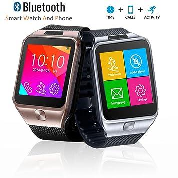inDigi innovador SWAP2 teléfono Identificador de llamadas – Cámara espía inalámbrica Bluetooth muñeca reloj inteligente Unlocked