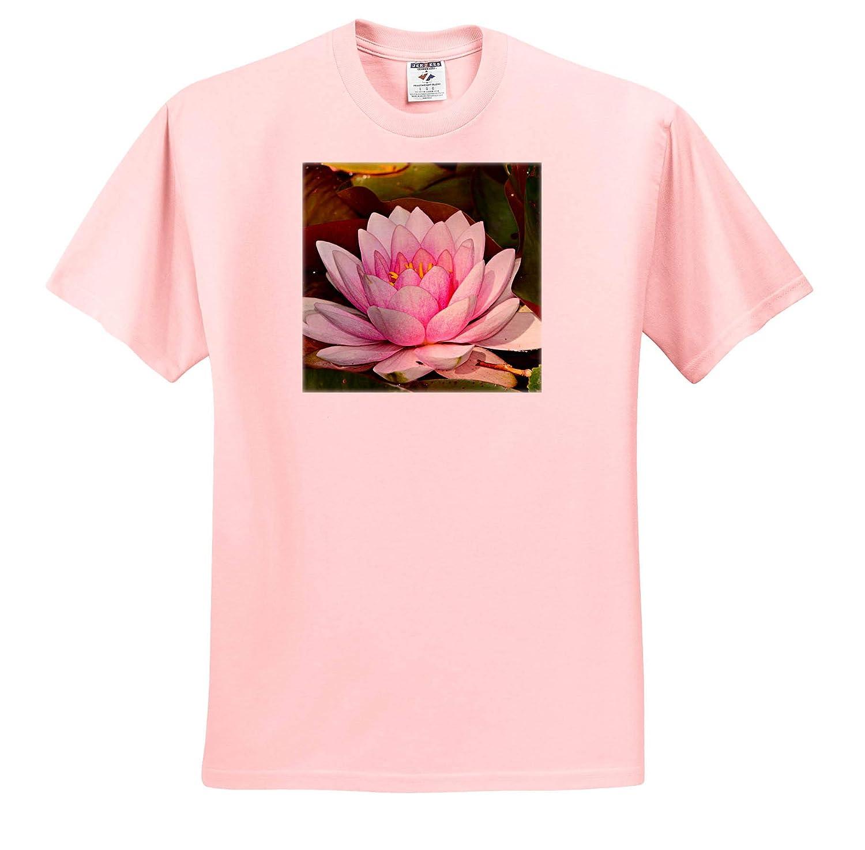 3dRose Sven Herkenrath Flower Adult T-Shirt XL ts/_316726 Asia Japanese Lotus Flower Blossom Pink
