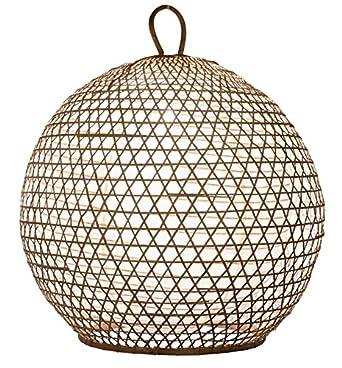 Lampenschirm Roundy Bambus Xl 70x70cm Weiss Bambuslampen Aus