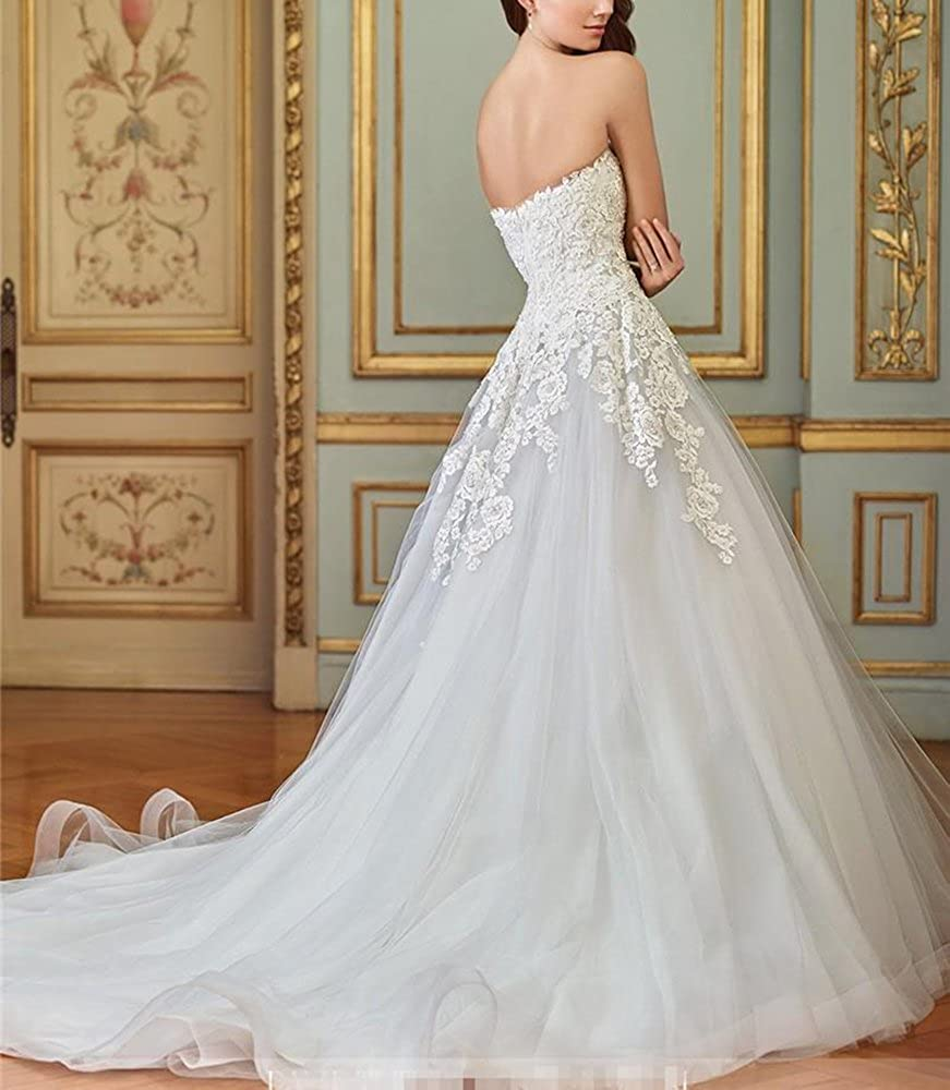 d91650cc88f DreHouse Women s Vintage Tulle Summer Wedding Dresses Princess Bridal Ball  Gowns 2017 at Amazon Women s Clothing store