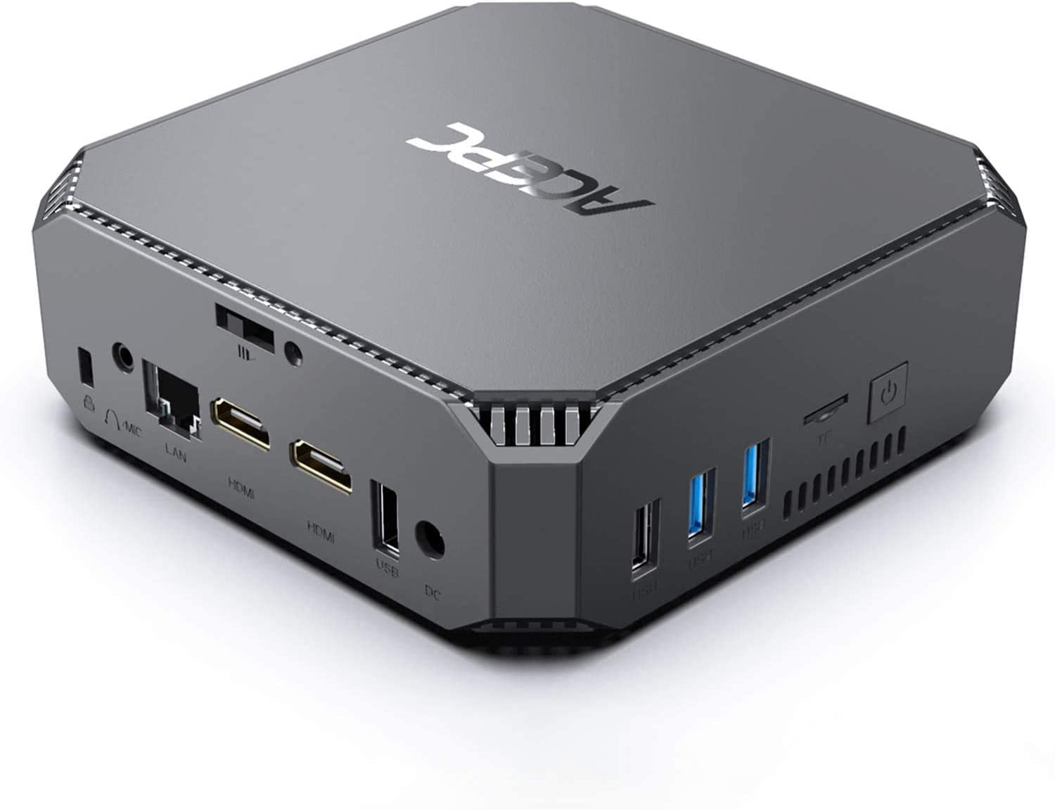 Mini PC, Windows 10 Pro 8GB DDR3 256GB SSD, Procesador Intel Celeron J3455 (hasta 2.3GHz) Mini computadora de 4 núcleos, Pantalla Dual 4K HD, WiFi de Banda Dual 2.4G / 5G, Gigabit Ethernet, BT 4.2