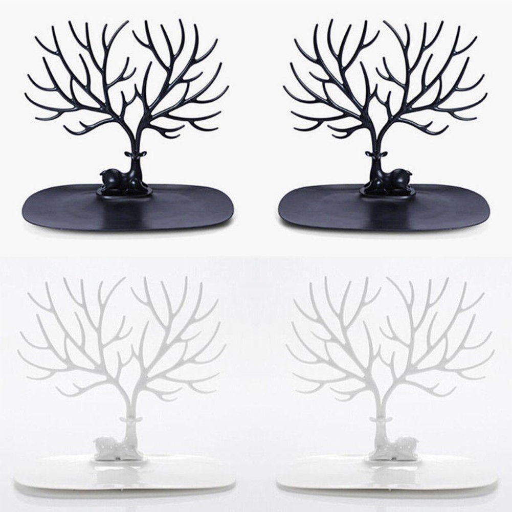 para anillos Soporte para exhibici/ón de joyas collares blanco pendientes pulseras regalos de cumplea/ños para ella organizador de joyas dise/ño de /árbol de ciervo