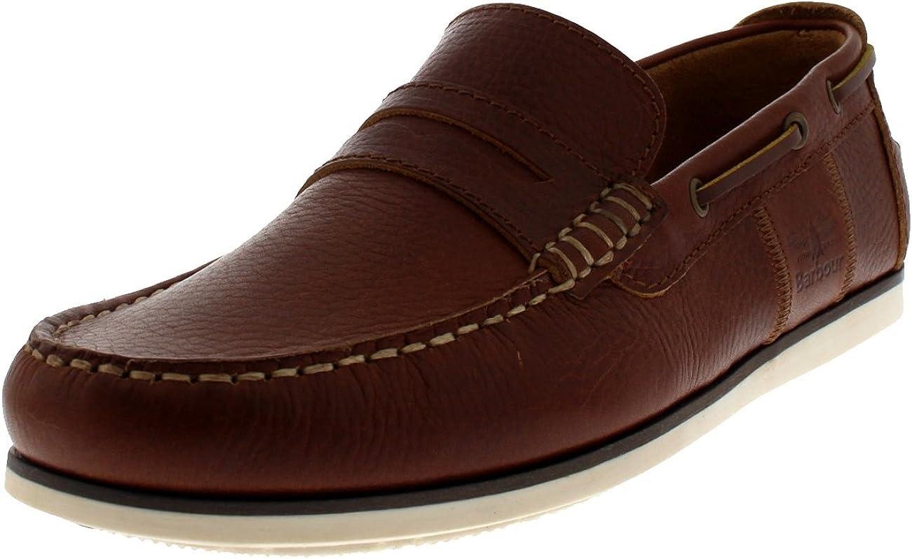 Barbour KEEL Deck Shoes Cognac: Amazon