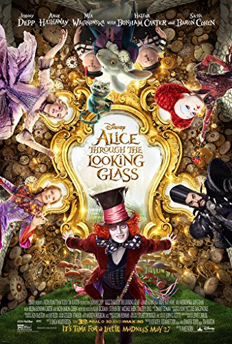 ALICE THROUGH THE LOOKING GLASS MOVIE POSTER 2 Sided ORIGINAL FINAL - Anne Hathaway Glasses