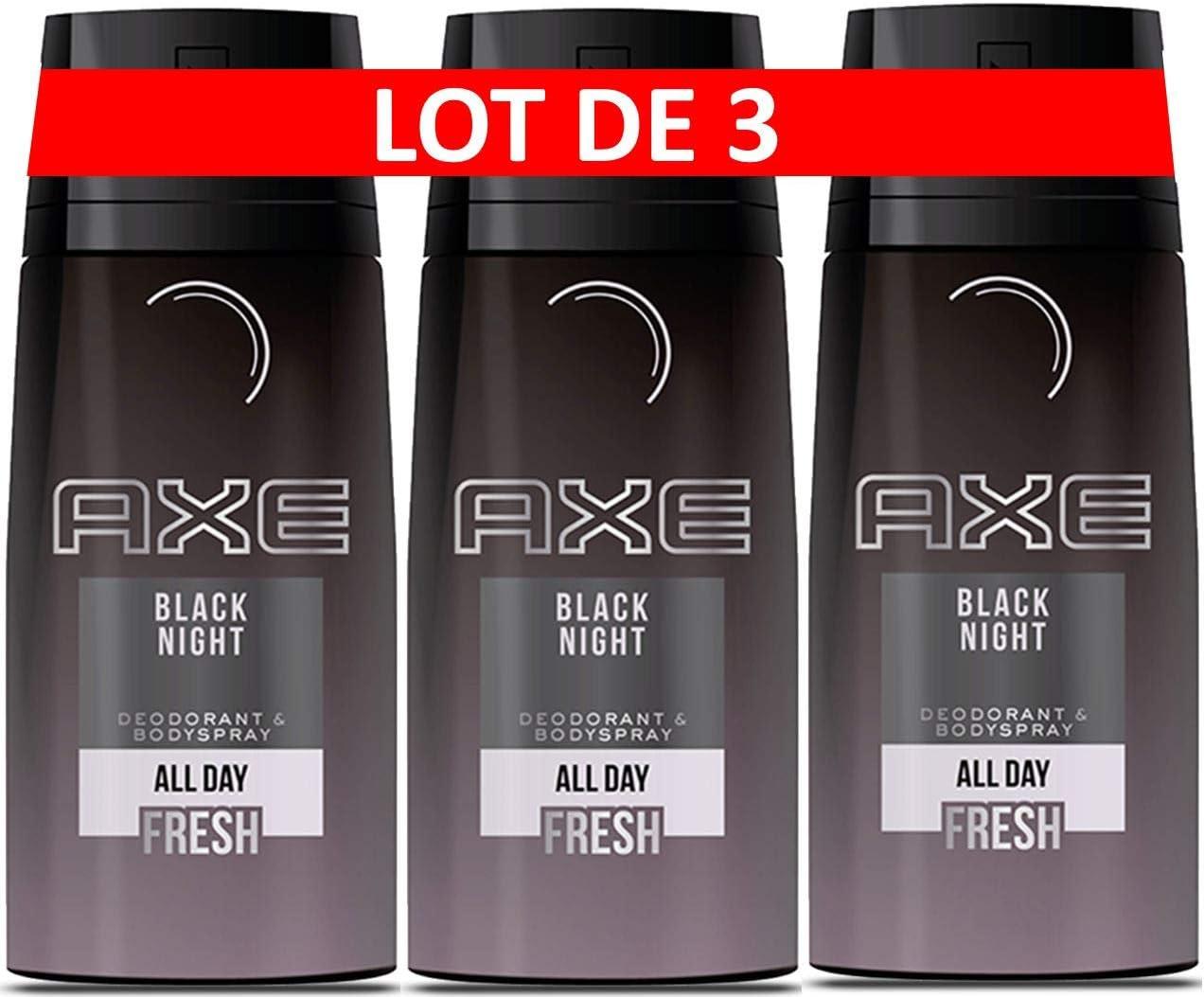 Axe Desodorante Hombre Spray Black Night 150 ml – juego de 3: Amazon.es: Belleza
