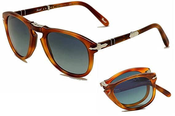Persol Steve McQueen Polarized 714SM 96/S3 Folding Sunglasses Limited Edition Light Havana Crystal Gradient