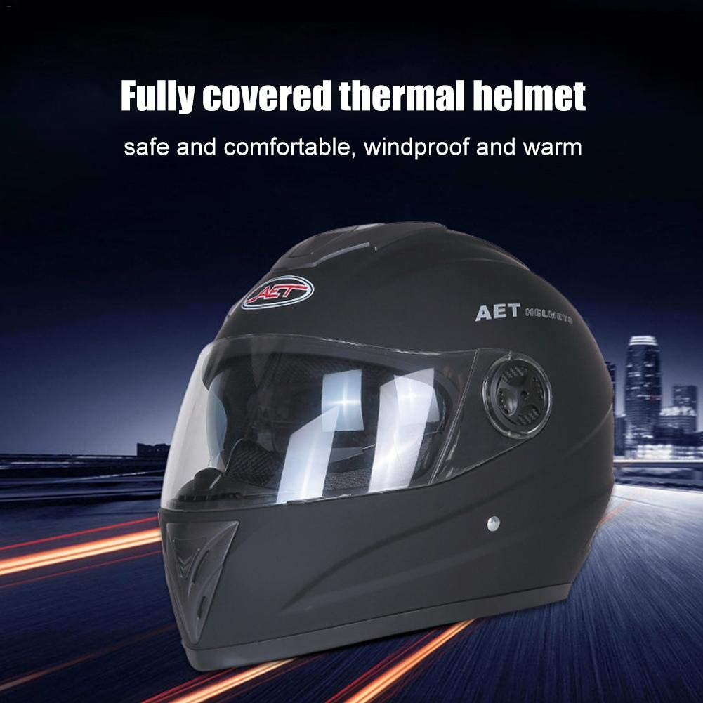 con doppia lente Katurn Casco integrale per moto e veicoli elettrici per l/'inverno e il resto delle stagioni da uomo e da donna