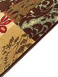 "Kapaqua Rubber Backed 21"" x 60"" Italian Floral"
