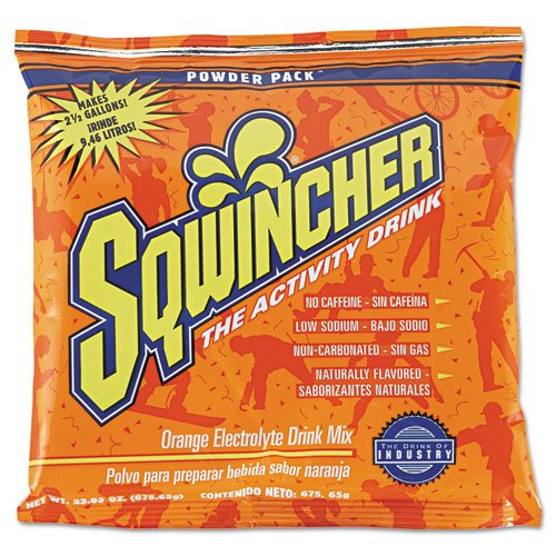 Sqwincher 016041OR Powder Pack Concentrated Activity Drink, Orange, 23.83 oz Packet, 32/Carton - Concentrated Drink