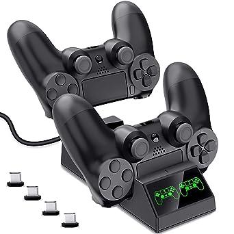 Amazon.com: DinoFire PS4 - Cargador controlador de carga ...