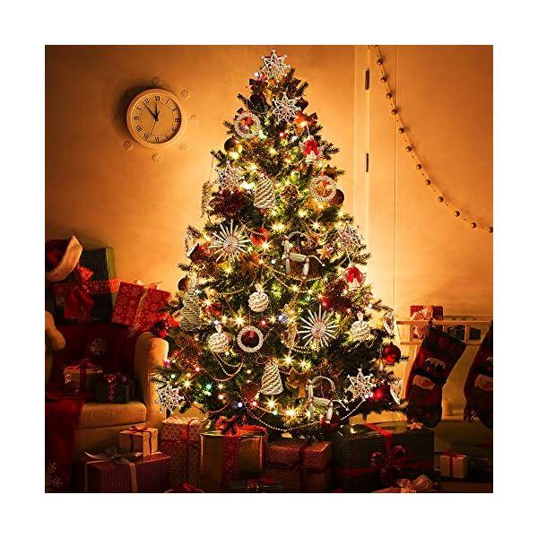 56 pezzi di paglia di decorazione dell'albero di Natale, ciondolo di ornamenti creativi da appendere alle forniture di artigianato natalizio Ornamenti decorativi da appendere 4 spesavip