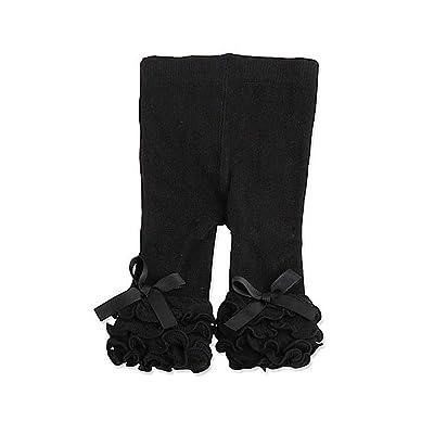 Baby Girls Black Ruffle Legging